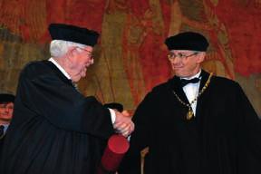 V Karolinu při předávání čestného doktorátu profesoru Eugenu Braunwaldovi