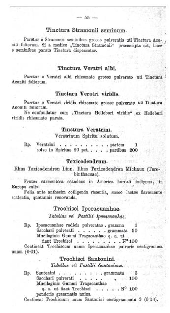 Ukázka textu Projektu internationální farmakopoey.