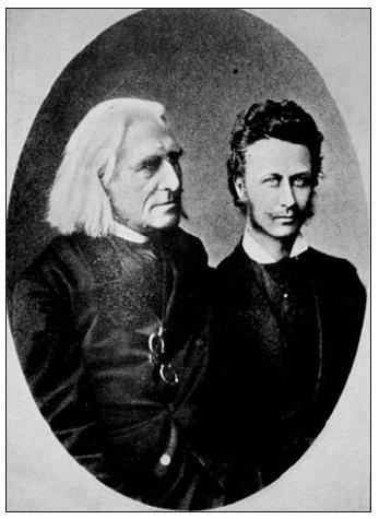 Mladý Géza Zichy s Franzem Lisztem
