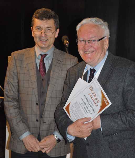 Prof. Milan Lukáš a prof. Petr Dítě, zakladatelé Pracovní skupiny pro IBD. Fig. 2. Professors Milan Lukáš and Petr Dítě, the founders of The Czech IBD Working Group.