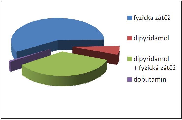 Graf ukazuje zastoupení jednotlivých typů zátěže v našem souboru (absolutní a procentuální počet).
