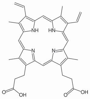 Protoporfyrin IX.