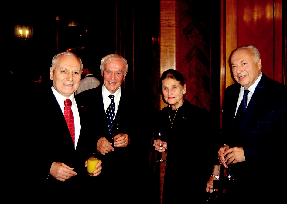 Fig. 3. Photograph taken during the Jubilee Conference on the Occasion of the 55<sup>th</sup> Anniversary of the Prague Burn Center, Prague, Czech Republic, on September 30, 2008. (Left to Right: Mehmet Haberal, Miloš Hájek, Radana Königová, and Jaroslav Blahoš)