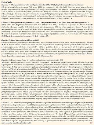 Soubor kazuistik nemocných s invazivní aspergilózou (IA).