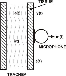 Fig. 1: The microphone applied over the trachea