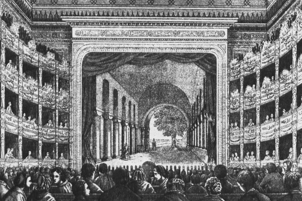 Interiér Prozatímního divadla.