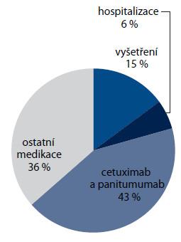 Struktura nákladů po progresi onemocnění (n = 170).