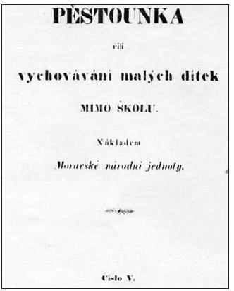 Titulní list Pěstounky z roku 1851