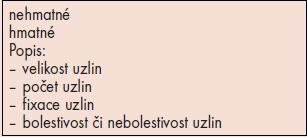 Vyšetření ingvinálních uzlin.