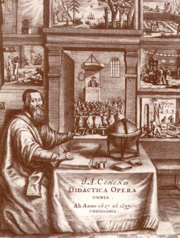 Opera didactica omnia – titulní list latinského vydání v Amsterdamu 1687.