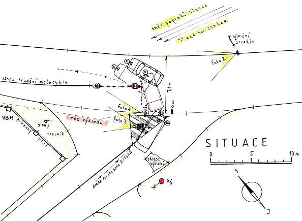 Ilustrativní plánek obdobné nehodové situace