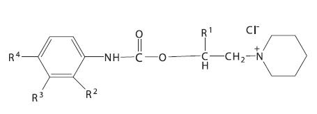 Piperidinylalkyl estery
