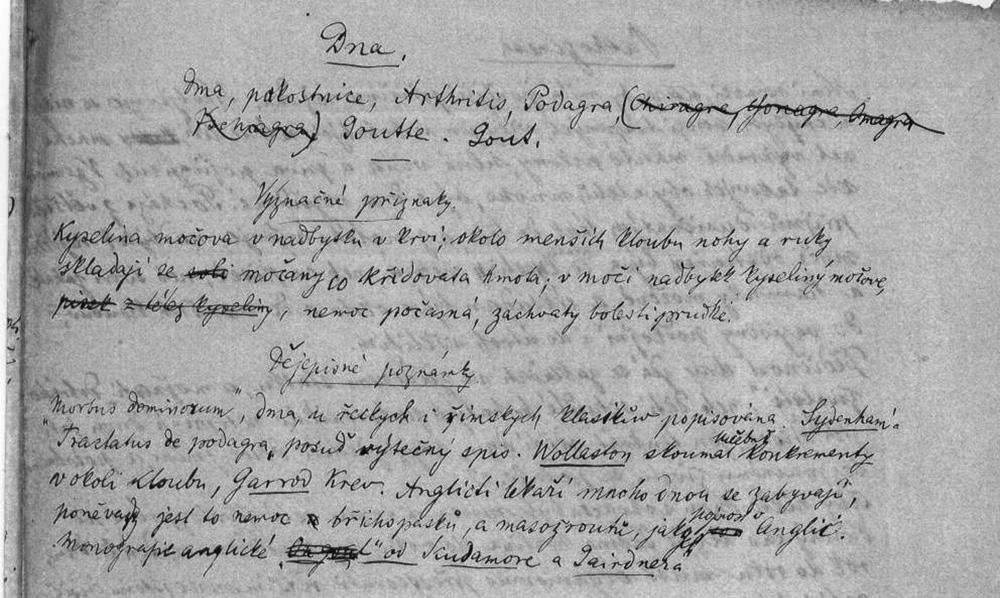 Eiseltův rukopis pojednávající o dně.