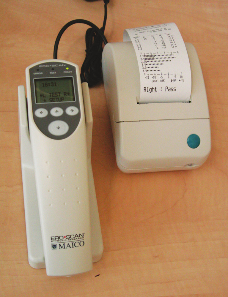 Přístroj MAICO ERO.SCAN – automatický OAE systém.