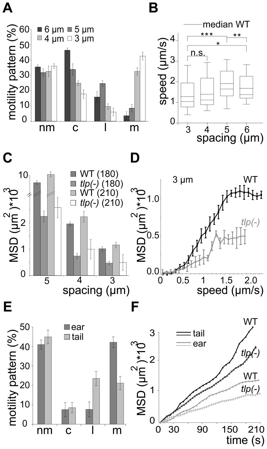 Slow dispersal of sporozoites lacking TLP.