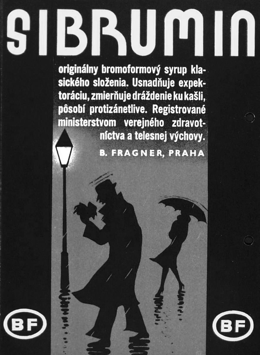 Sibrumin, B. Fragner Praha, leták třicátá léta 20. století, ČFM
