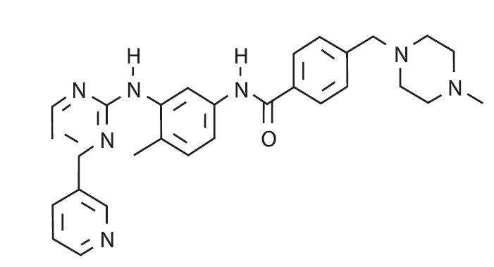 Chemická struktura imatinibu