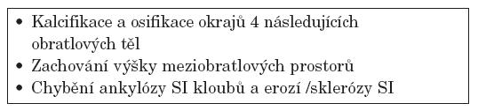 Resnickova diagnostická kritéria DISH.