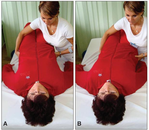 Využitie princípu pevných častí a medzier - presun ležiaceho pacienta na okraj postele.