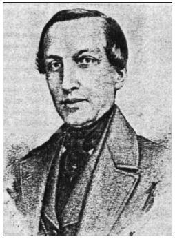 F. Petřina (1799–1855 ) Purkyňuv současník, profesor fyziky na filozofické fakultě v Praze od roku 1844.