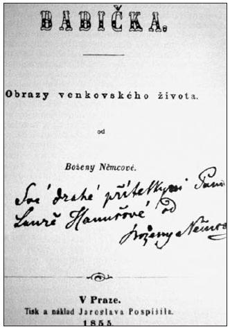 Titulní list prvého vydání Babičky