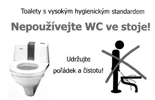Piktogramy na toaletách pacientů