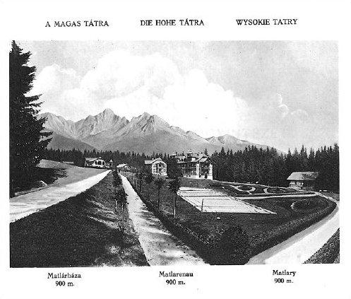 """""""Villa Tatra"""", na dobovej fotografii v Tatranských Matliaroch vo Vysokých Tatrách"""