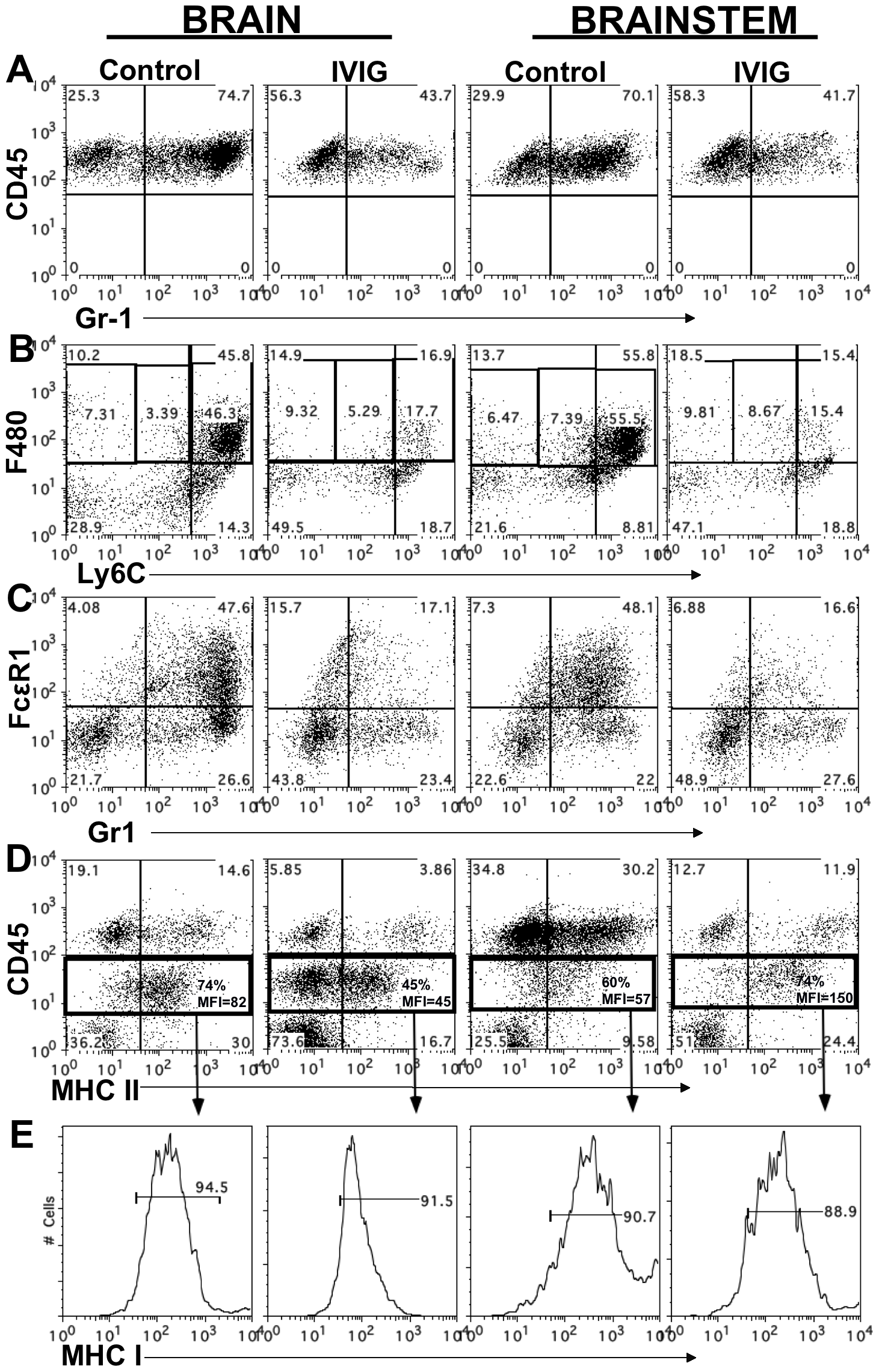 IVIG alters the phenotype of macrophages and microglia.
