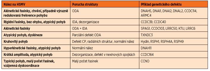 Příklady nálezu na HSVM a jejich strukturální korelát.