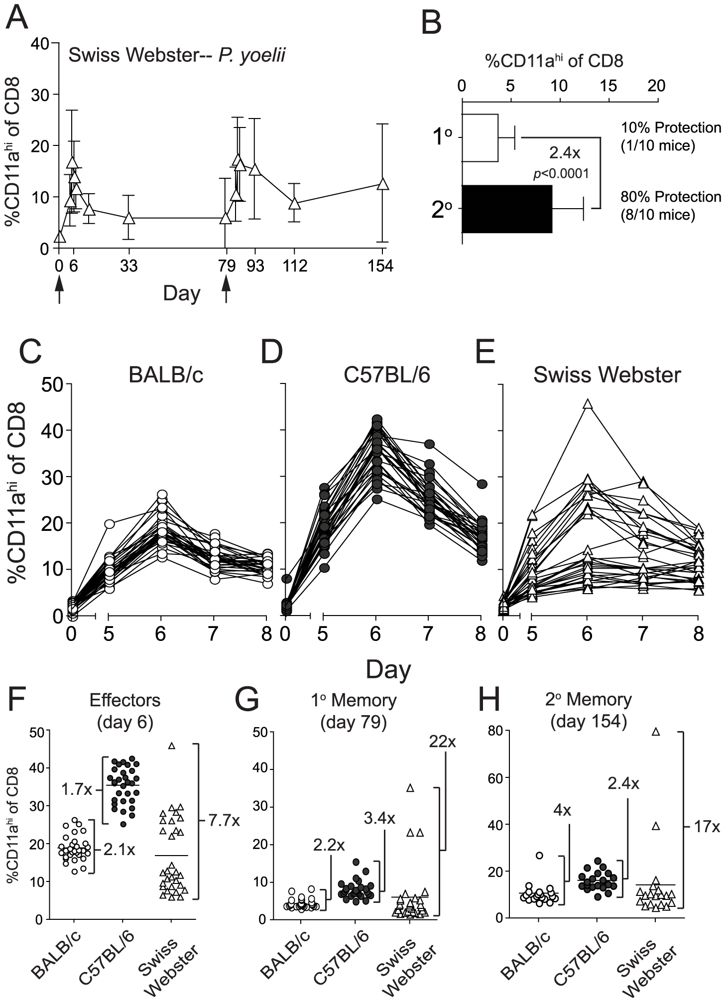 <i>Py</i>-RAS-specific CD8 T cell responses and protective immunity are markedly enhanced following prime-boost vaccination of an outbred mouse population.