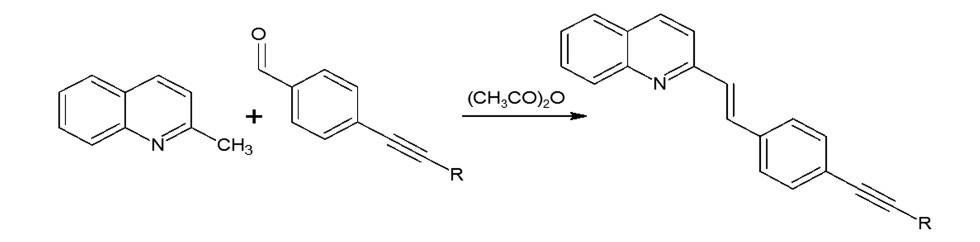 Synthesis of styrylquinoline