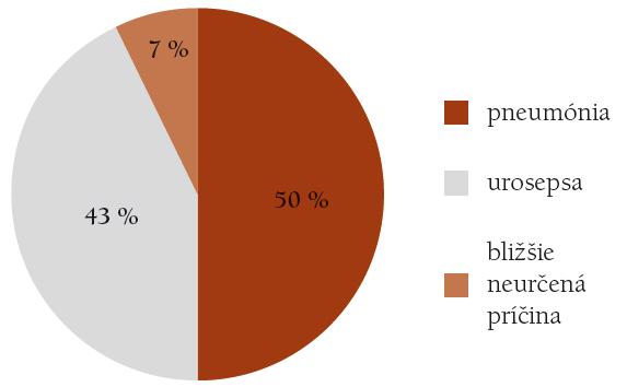 Príčiny vzniku HHS v %.