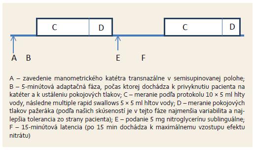 Protokol vyšetrenia. Fig. 1. Examination protocol.