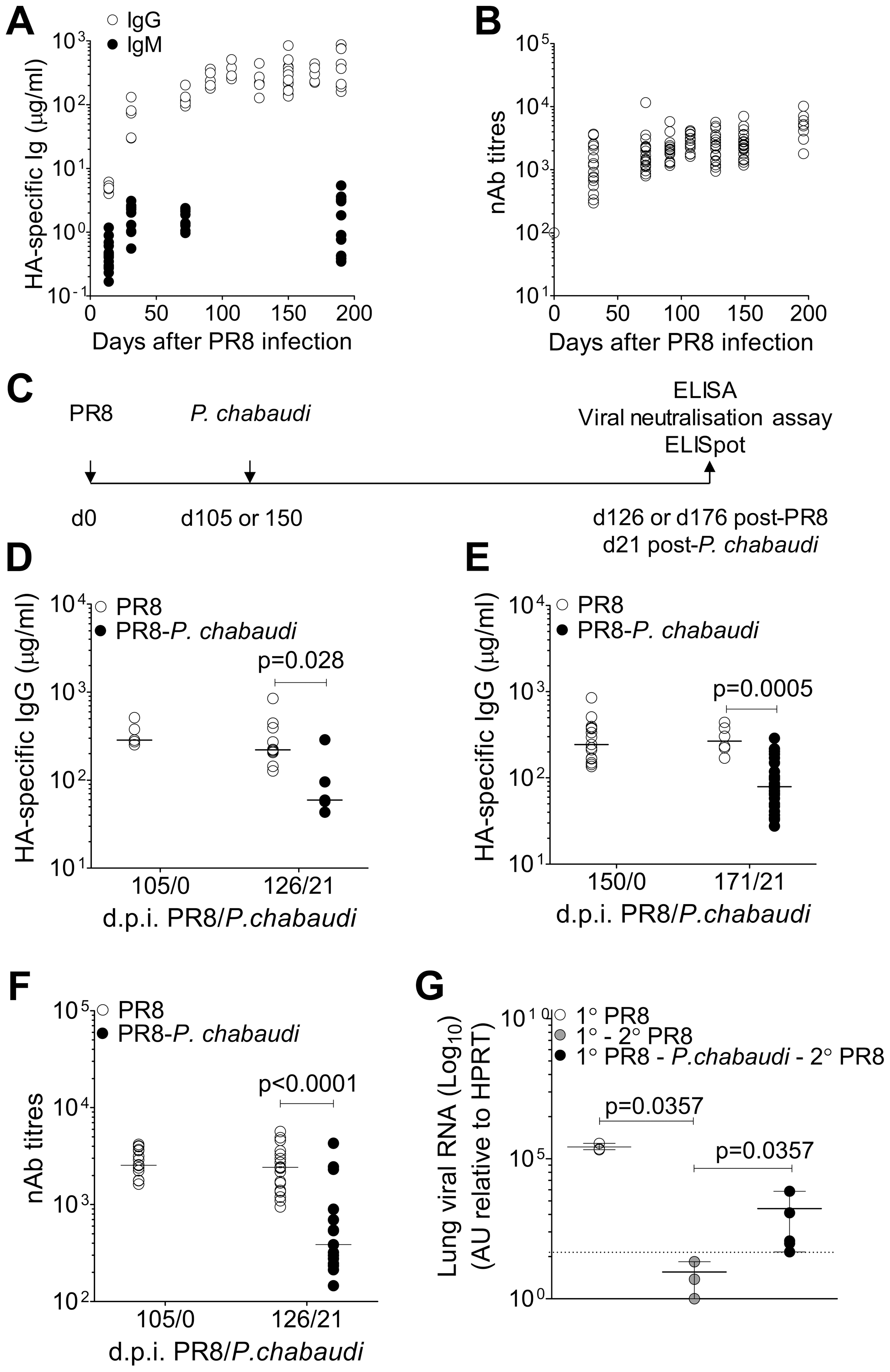 Loss of pre-established Influenza-specific humoral immunity after infection with <i>P. chabaudi</i>.