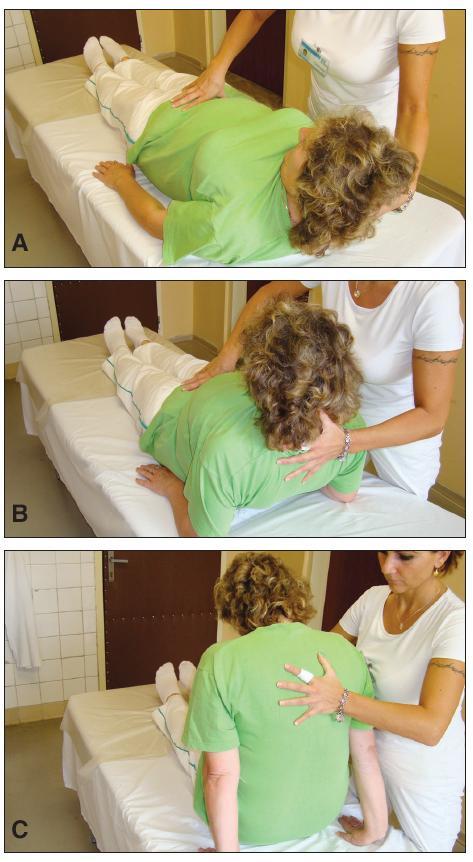 Presun pacienta z ľahu do sedu na posteli.