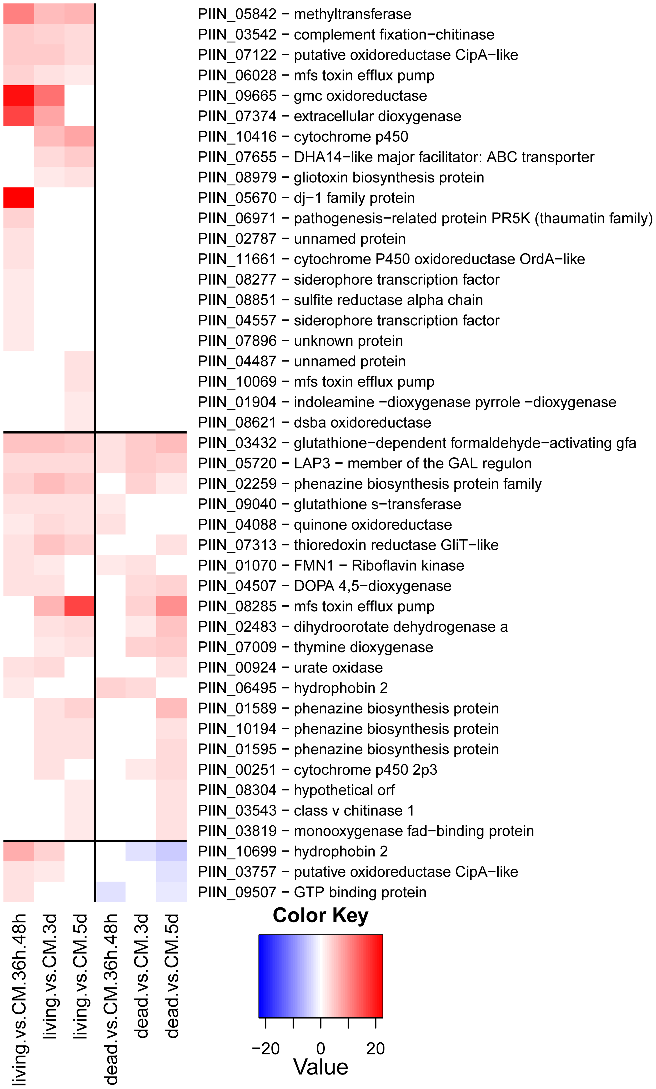 <i>P. indica</i> genes involved in stress response and secondary metabolism.