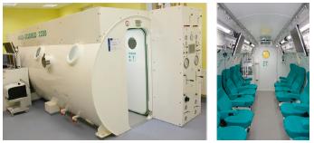 Hyperbarická komora Centra pre hypebarickú oxygenoretapiu Fakulty zdravotníctva TnUAD.