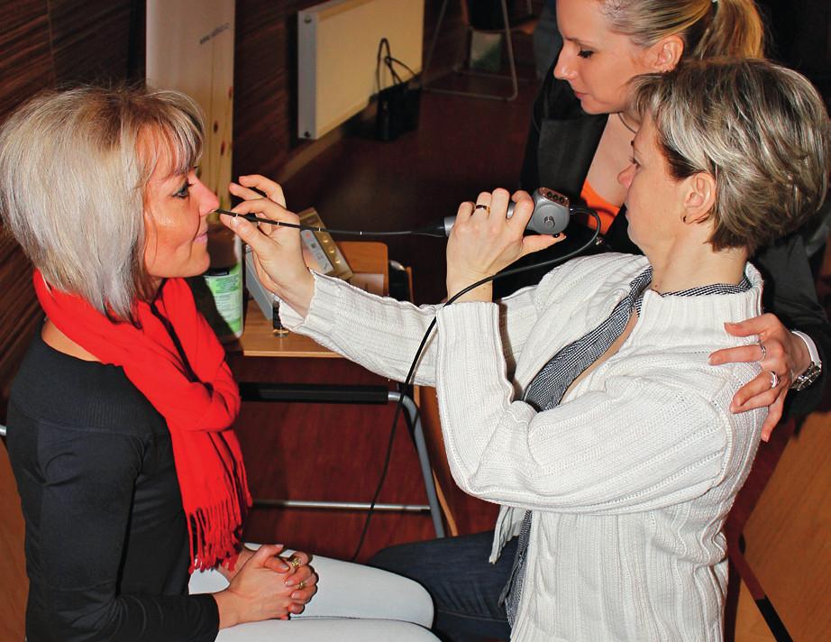 Nácvik flexibilního endoskopického vyšetření polykání.