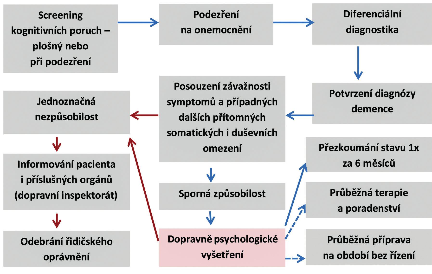 Základní postup vyšetření u pacientů s diagnózou demence