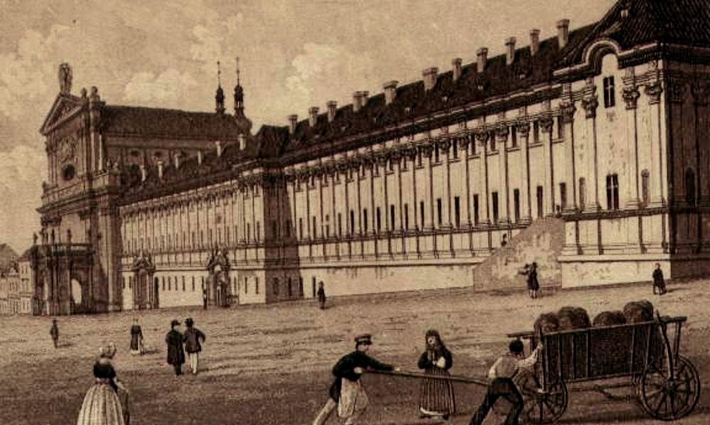 Vojenská nemocnice na Karlově náměstí v Praze, kde Eiselt přednášel