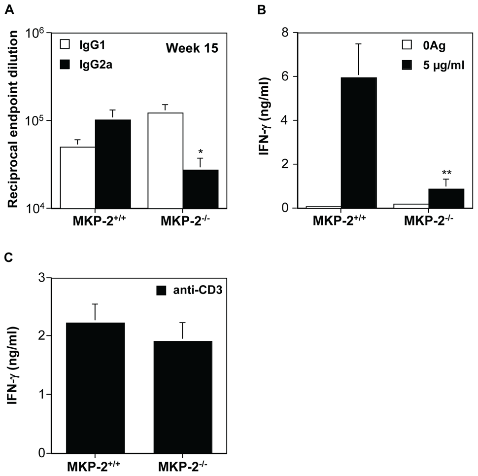 MKP-2 deficiency results in a limited Th1 response following footpad infection with <i>L. mexicana</i>.