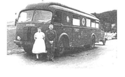 Výjezdový autobus pro odběry krve