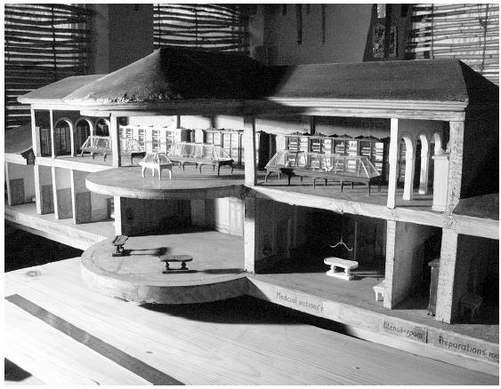 Model budovy z roku 1862 (foto A. Hruška)