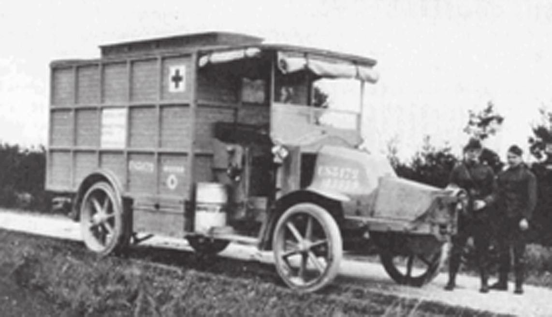 <i>Pojízdný rentgen z roku 1914.</i>