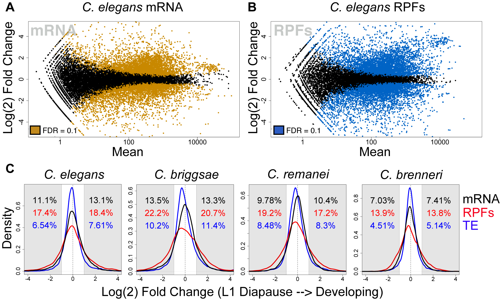 The transcriptome and translatome are substantially remodeled upon exiting diapause.