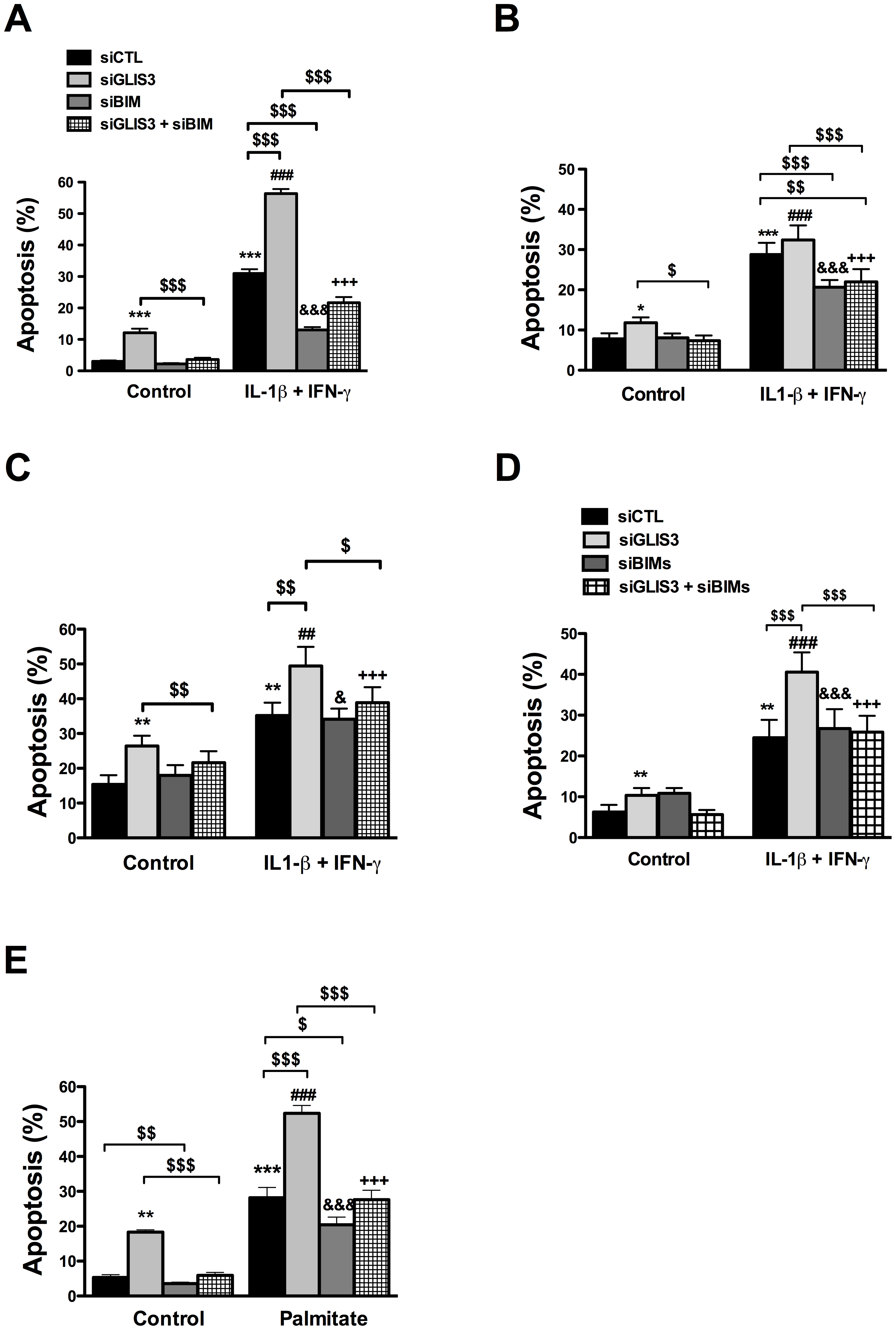 <i>Bim</i> mediates the potentiation of apoptosis in <i>GLIS3-</i>deficient cells.