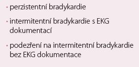 Nová klasifikace bradyarytmií.