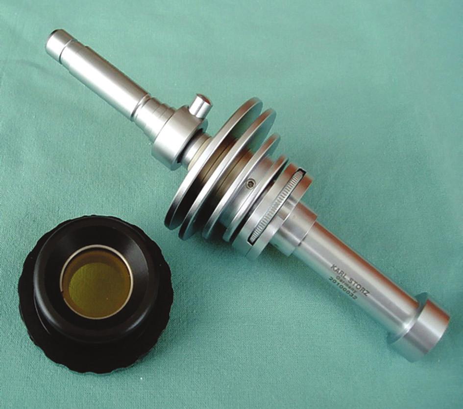 Optické filtry (Karl Storz – Endoskope, Tuttlingen, Německo) Fig. 2. Optical filters (Karl Storz – Endoskope, Tuttlingen, Germany)