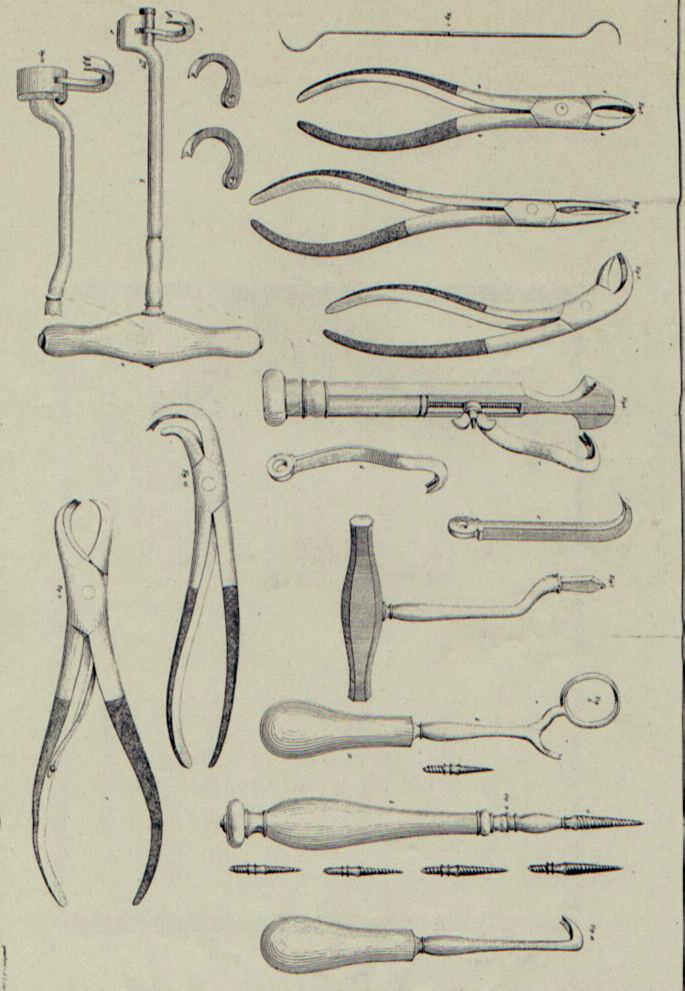 Zobrazení extrakčních nástrojů v dizertaci K. Kittla, zpracované pod vedením Františka Nessela.