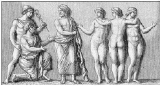 Merkur (Hermes) spolu s obchodníkem jsou odmítáni Asklepiem [2].